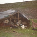 Kurdish refugee tent, March 1996, Kurdistan