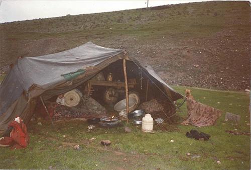 Kurdish refugee tent, March 1996, Kurdistan