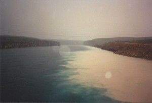 Euphrates River in Kurdistan during heavy rain
