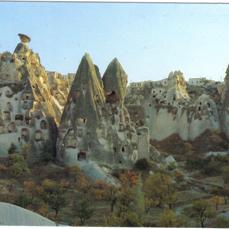Cappadocia turquoise sky