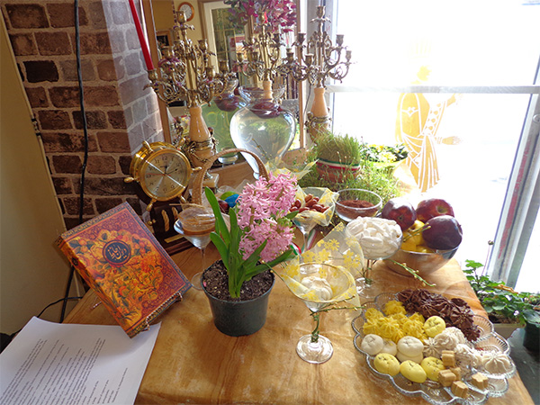 Haft-seen table at Saffron Restaurant celebrates Newroz.